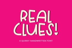Web Font Real Clues - a quirky handwritten font Product Image 1