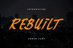 Rebuilt Urban font Product Image 1