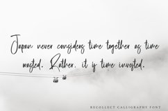 Recollect - Calligraphy Font Product Image 4