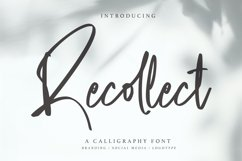 Recollect - Calligraphy Font Product Image 1