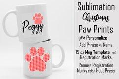 Sublimation - Christmas Paws - three 15 oz. Mug Templates Product Image 5