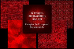 Vampire Red Leopard Print Backgrounds - 12 Image Textures Product Image 2