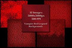 Vampire Red Leopard Print Backgrounds - 12 Image Textures Product Image 3