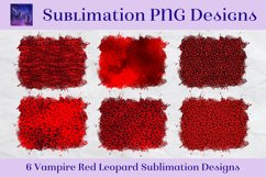Sublimation PNG Designs - Vampire Red Leopard Product Image 1
