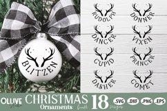 Reindeers Christmas SVG | Christmas Ornaments SVG Product Image 2