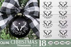 Reindeers Christmas SVG | Christmas Ornaments SVG Product Image 1