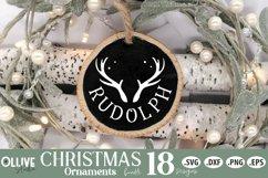 Reindeers Christmas SVG | Christmas Ornaments SVG Product Image 3