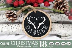 Reindeers Christmas SVG | Christmas Ornaments SVG Product Image 4