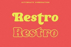 Restro - Retro Inspired Display Font Product Image 5