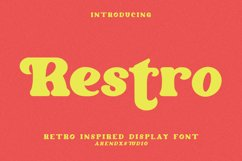 Restro - Retro Inspired Display Font Product Image 1