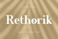 Web Font Rethorik - Display Font Product Image 1