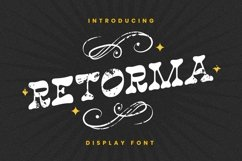 Web Font Retorma Font Product Image 1
