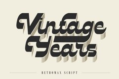 RETROMAX // Reverse Contrast Script with Layered Style Product Image 5