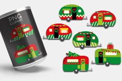 Christmas camping caravan clipart - Red Green Happy Camper Product Image 3