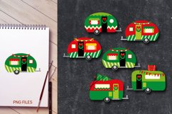 Christmas camping caravan clipart - Red Green Happy Camper Product Image 2