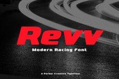 Revv Modern Racing Font Product Image 1