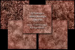 Rose Gold Grunge Backgrounds - 12 Distressed Grunge Textures Product Image 2