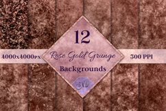 Rose Gold Grunge Backgrounds - 12 Distressed Grunge Textures Product Image 1