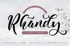 Web Font Rhandy - Uniquely & Naturally Handwritten Product Image 1