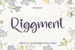 Web Font Riggment - Beauty Handwritten Font Product Image 1
