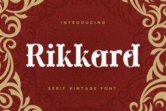 Web Font Rikkard Product Image 1