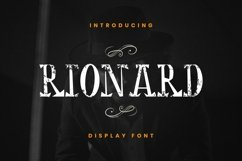 Web Font Rionard Product Image 1