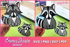 Rocco the Raccoon 3d SVG 1