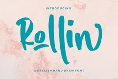 Rollin - A Stylish Hand Draw Font Product Image 1