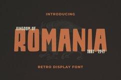 Web Font Romania Font Product Image 1