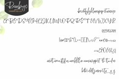 Web Font Roombays - Narutaly Flow Handwriting Script Font Product Image 2