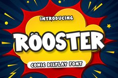 Rooster - Comic Display Font Product Image 1