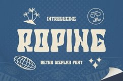Web Font ROPING Font Product Image 1