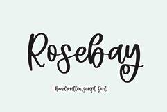 Web Font Rosebay - Handwritten Script Font Product Image 1
