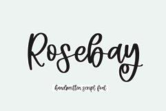 Rosebay - Handwritten Script Font Product Image 1
