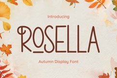 Web Font Rosella Product Image 1