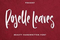Web Font Roselle Leaves - Handwritten Font Product Image 1