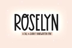 Roselyn - A Fun Handwritten Font Product Image 1