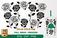 Roses cup wrap SVG Product Image 1