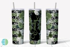 Custom Skinny Tumbler Sublimation Designs Roses - Add a Name Product Image 3