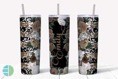 Custom Skinny Tumbler Sublimation Designs Roses - Add a Name Product Image 5