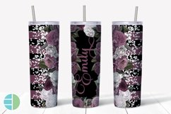 Custom Skinny Tumbler Sublimation Designs Roses - Add a Name Product Image 6