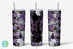 Custom Skinny Tumbler Sublimation Designs Roses - Add a Name Product Image 4