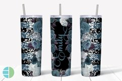 Custom Skinny Tumbler Sublimation Designs Roses - Add a Name Product Image 2
