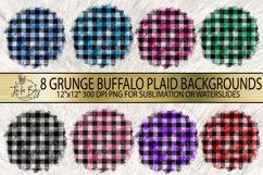 Round Buffalo Plaid Sublimation Background Bundle Grungy Red Buffalo Plaid  Blue Pink Purple Green Yellow Black