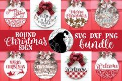Christmas Sign SVG Bundle, Round Christmas Sign Bundle Product Image 1