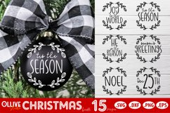 Christmas Ornaments SVG   Christmas Bundle SVG Product Image 1