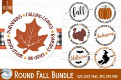Round Fall SVG Bundle | Thanksgiving, Halloween, Autumn Product Image 1