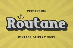 Web Font Routane - Display Font Product Image 1