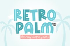RETRO PALM Summer Inline Display Font Product Image 1