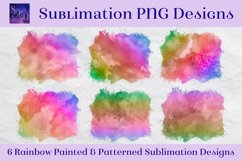Sublimation PNG Designs - Rainbow Painted and Patterned Product Image 1